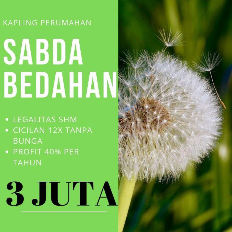 Nabung Tanah Bayar 12X, Kapling Strategis di Sabda Bedahan