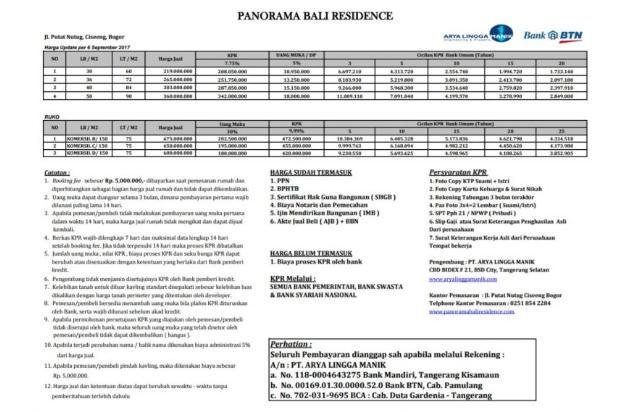 Perumahan Panorama Bali Residance, Parung 14088412