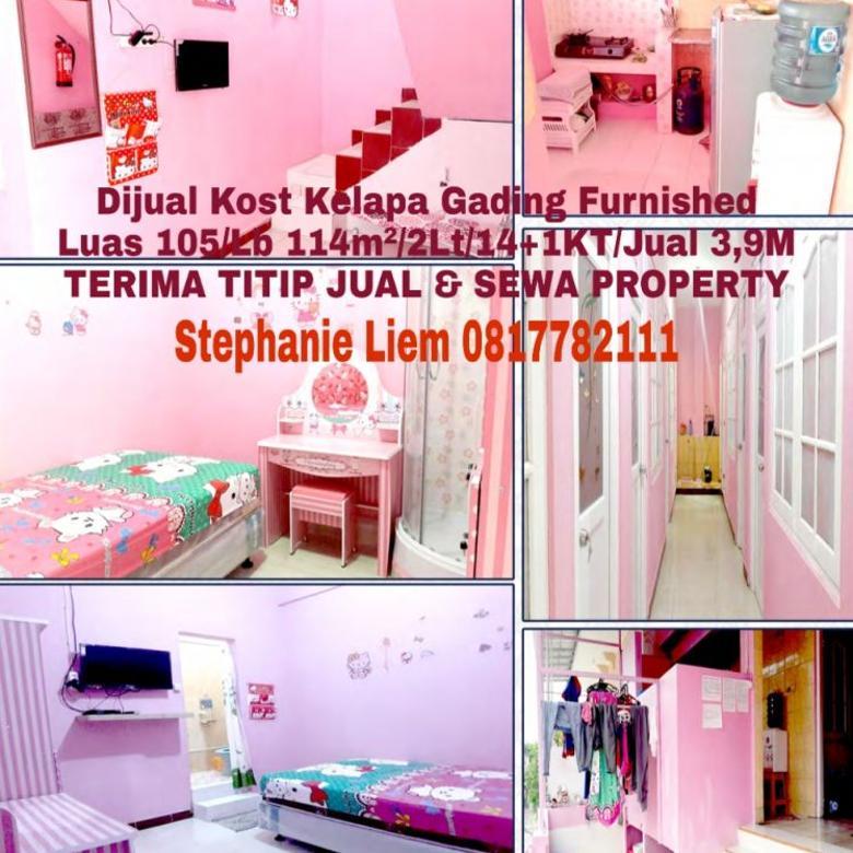 DIJUAL KOST KELAPA GADING JAKARTA UTARA HUB 0817782111