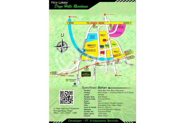 Perumahan Syariah DP 10 JUTA & TK SD SMP Islam dekat Stasiun Parung Panjang 12752022