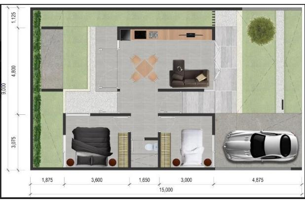 Dijual Rumah Nyaman Tipe 58 di Sinbad Green Residence 16633799