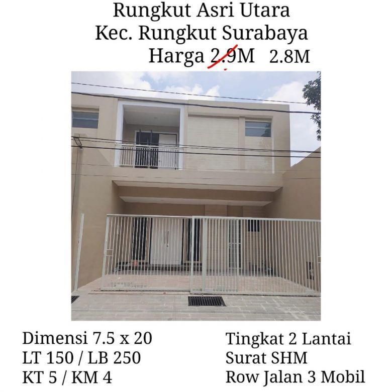 rumah rungkut asri utara surabaya selatan harga nego