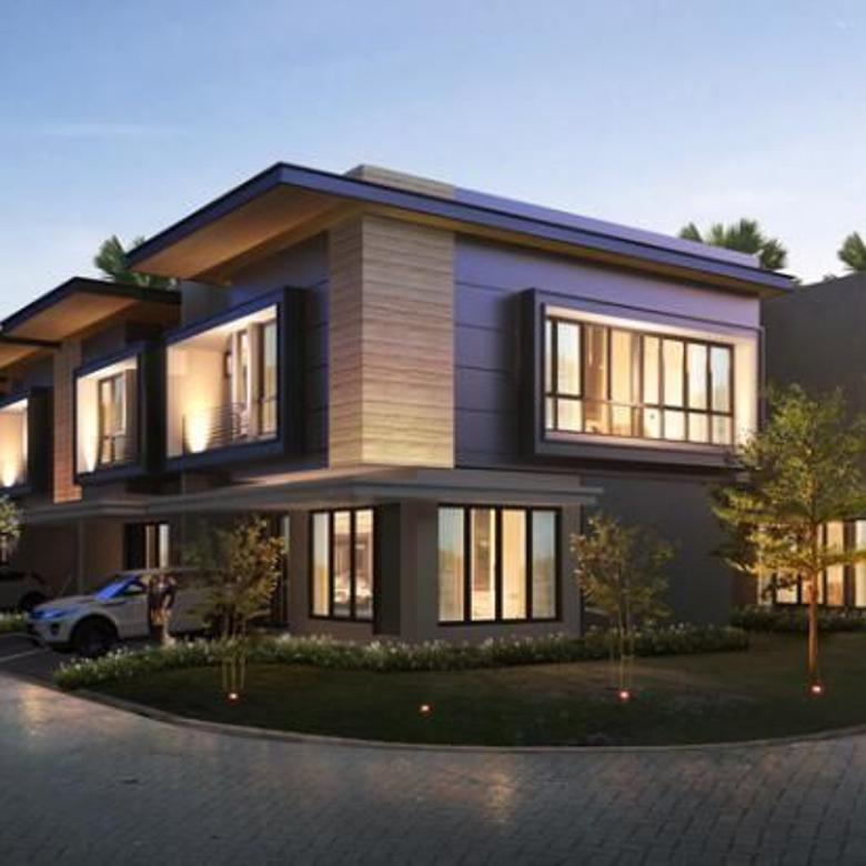rumah cluster modern jalan utama raya super mewah