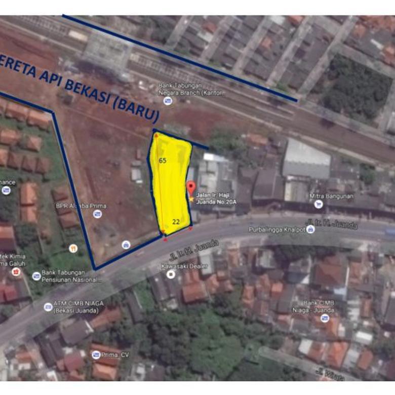 disewakan tanah di Bekasi, untuk usaha/bisnis, terbaik dijamin, strategis