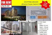 Disewakan unit-unit toko ( Shopping Arcade ) di Apartemen Sentul Tower
