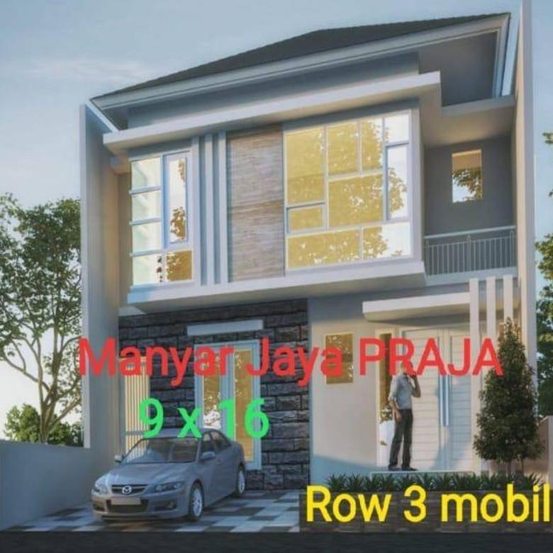 Rumah gress design minimalis SANGAT BAGUS di Manyar Jaya Praja