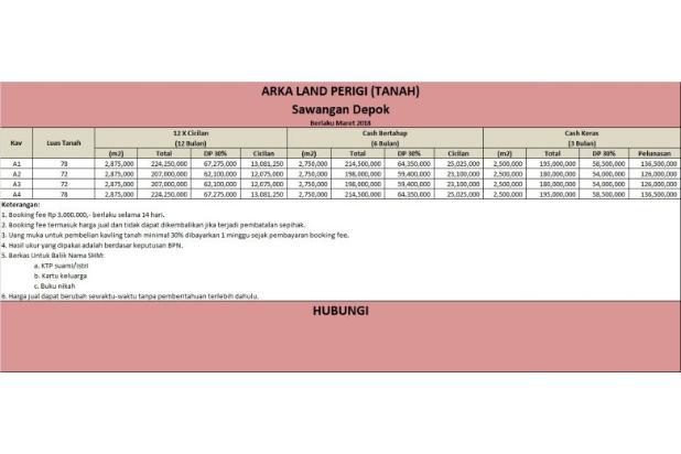 Kapling Tanah CICIL 12 X BERTAHAP, Legalitas Aman: SHM 16577536