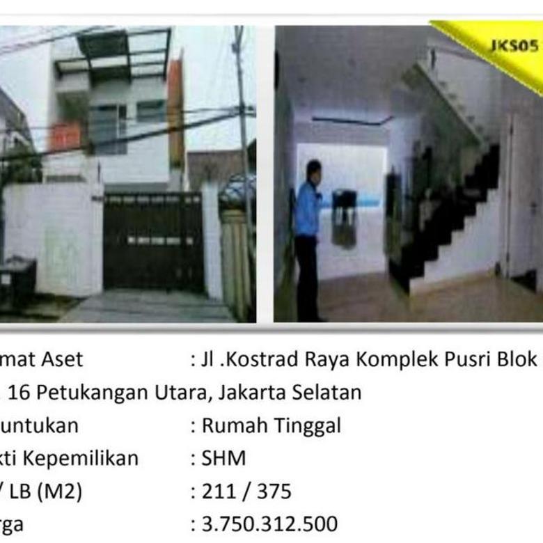 Aset Sitaan Rumah Tinggal Komplek Pusri Petukangan Utara Jakarta Selatan