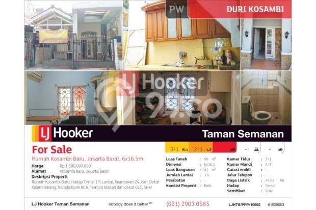 Rumah Kosambi Baru, Jakarta Barat, 6x16.5m, 1½ Lt 7609232