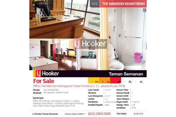 office the mansion kemayoran tower fontana, lt 11, jakarta pusat, ppjb