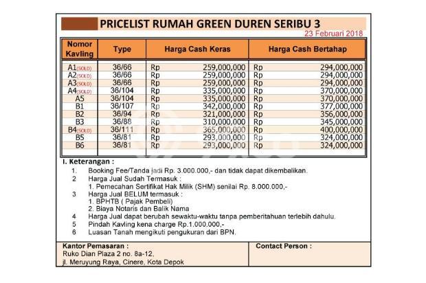 Rumah DISKON 100 Jt di Depok, Sila Bayar Cash-Bertahap 16579150
