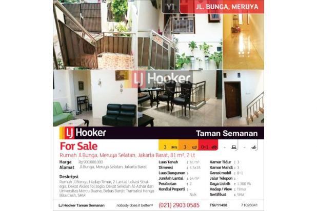 Rumah Jl.Bunga, Meruya Selatan, Jakarta Barat, 81 m², 2 Lt 12898655