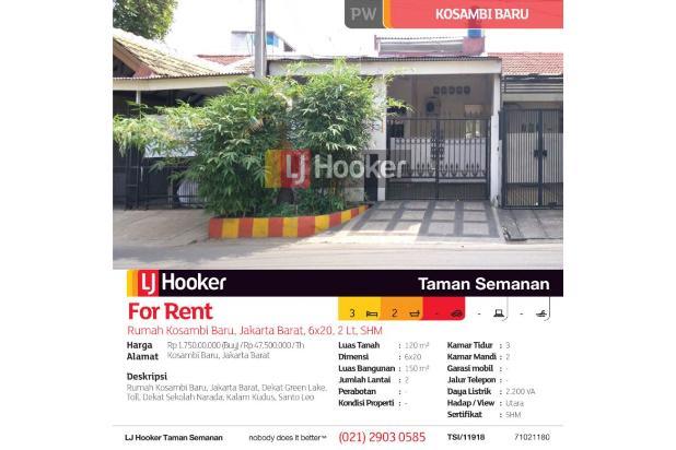 Rumah Kosambi Baru, Jakarta Barat, 6x20, 2 Lt, SHM 20019337