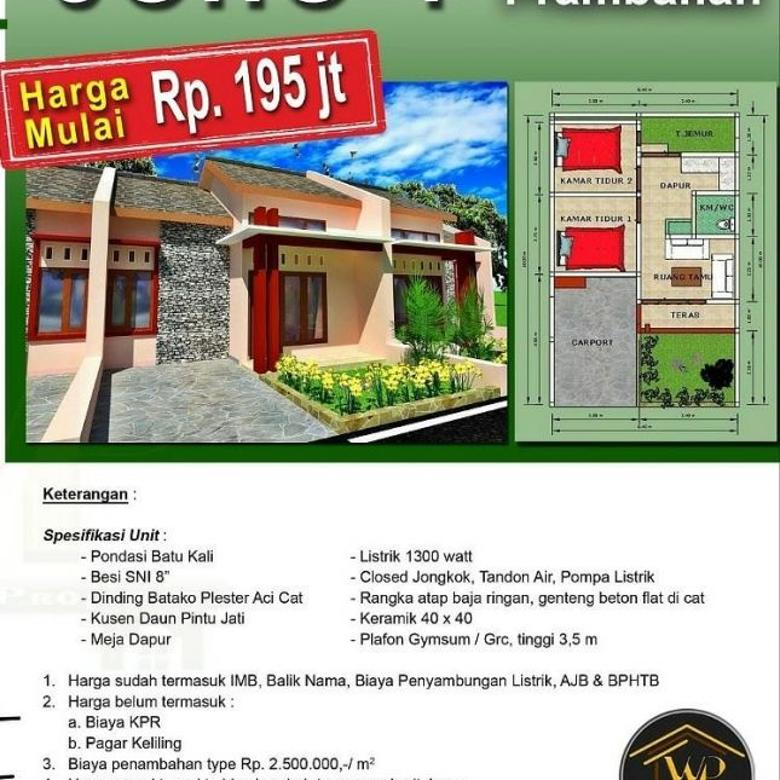 Rumah Cantik Investasi Tinggi dekat Exit Tol Prambanan