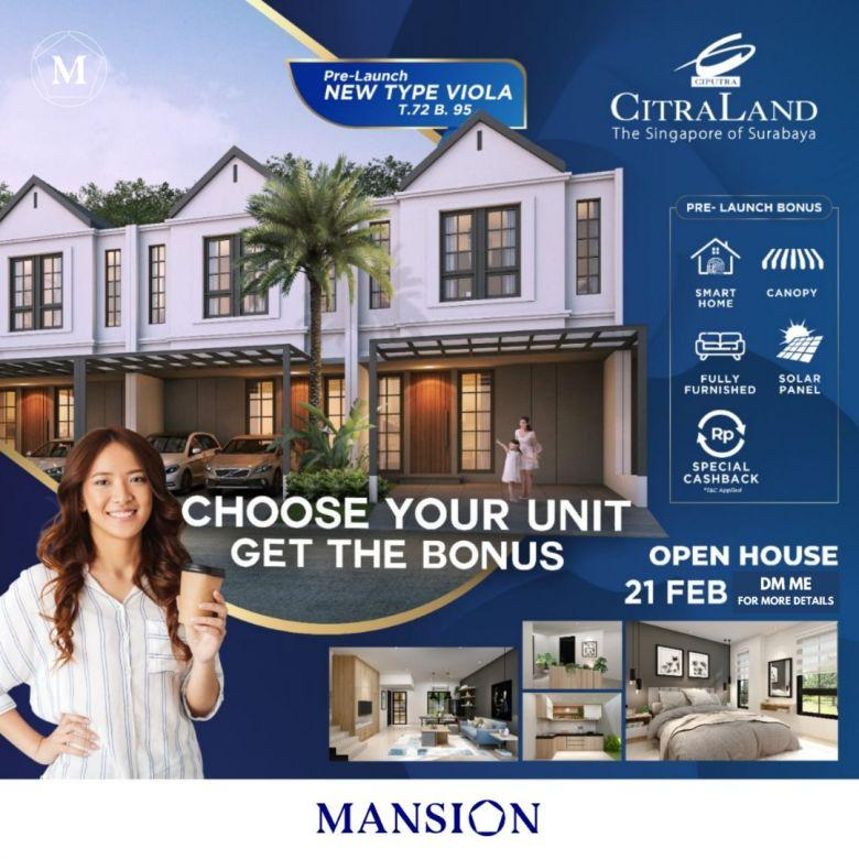 Rumah Oakwood Park Citraland New Type Full Furnish Smart Home