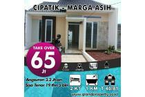 Rumah takeover DP65 jutanego,lngsung notaris SHM Dkt Tol Margaasih,Cijerah