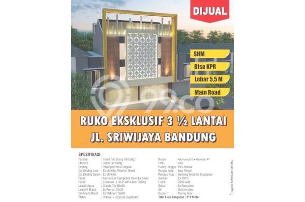 Dijual Unit Ruko Gandeng - Strategis 100% Baru, di Sriwijaya Raya 15158893