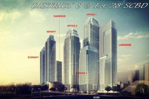 Dijual Apartemen District 8 Senopati Unfurnished Lantai Tengah 13427030