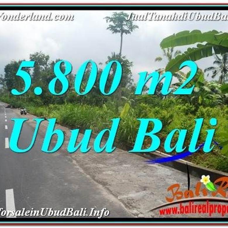 Tanah View Hutan dan Sungai 5,800 m2 di Ubud Tegalalang UBR637