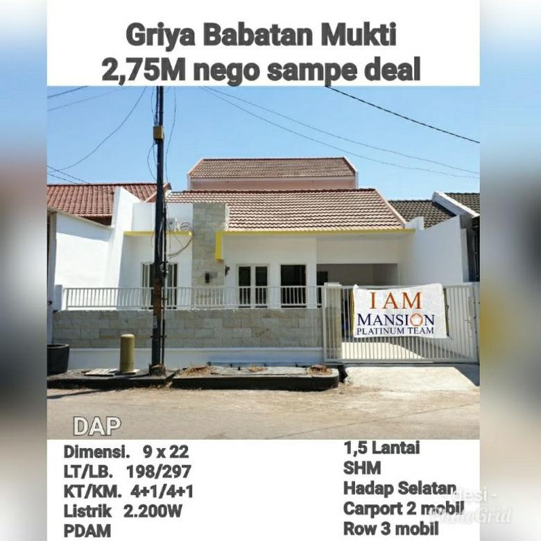 rumah griya babatan mukti 2.75 M nego sampai deal