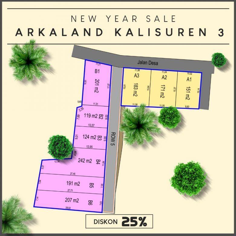 Sisa 4 Unit Tanah Kavling Arka Land Kalisuren 3: DISKON 25%