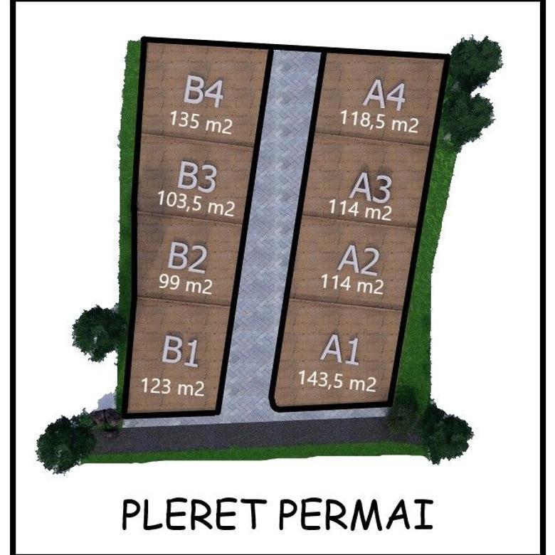 Tanah SHM Diskon Hingga 25%, Hanya 100an Meter dari Jl Pleret