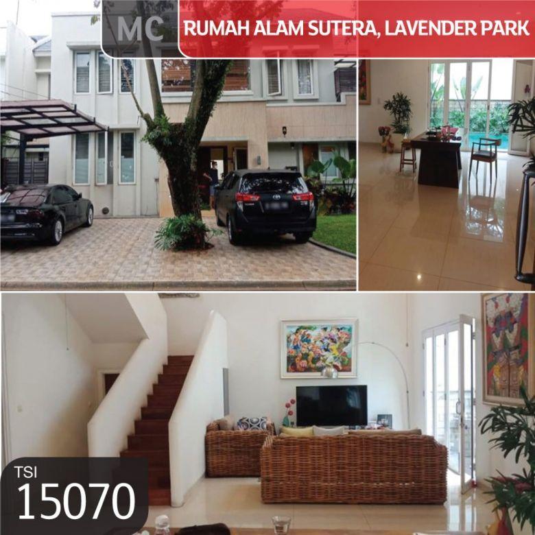 Rumah Alam Sutera, Cluster Lavender Park, Tangerang, 15x21,6m,