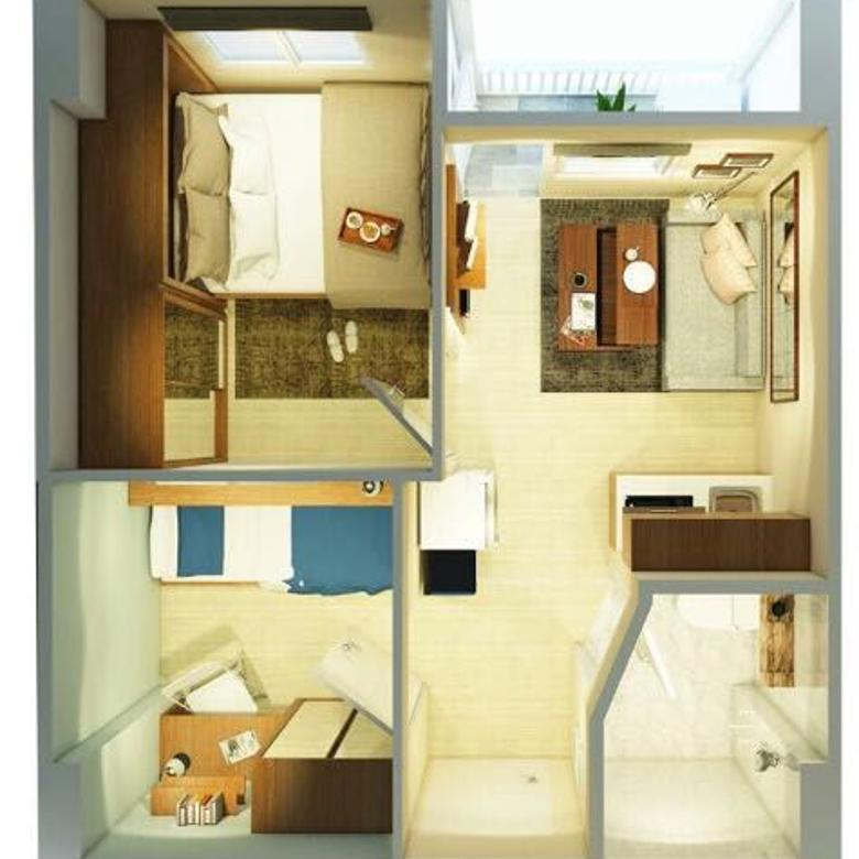 Apartemen 2BR full compact furnished - GREEN PRAMUKA CITY