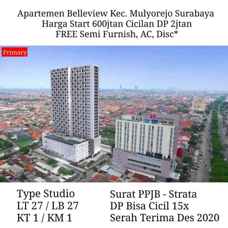 apartemen belleview mulyorejo semi furnish strategis dp murah