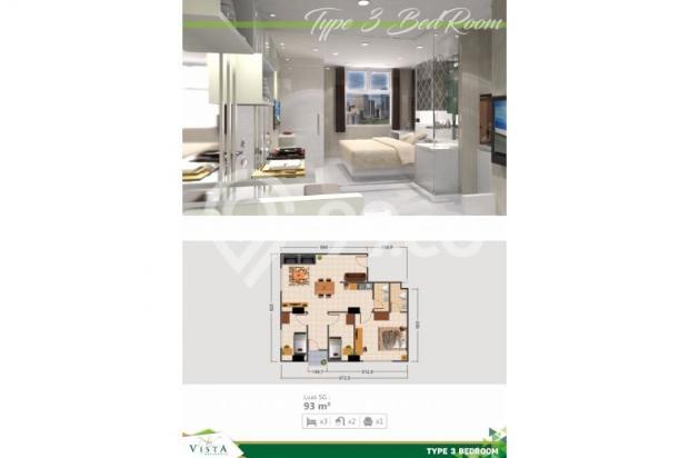 apartment eklusif 3 kamar posisi sudut dengan 2 arah view kota bandung 7610063
