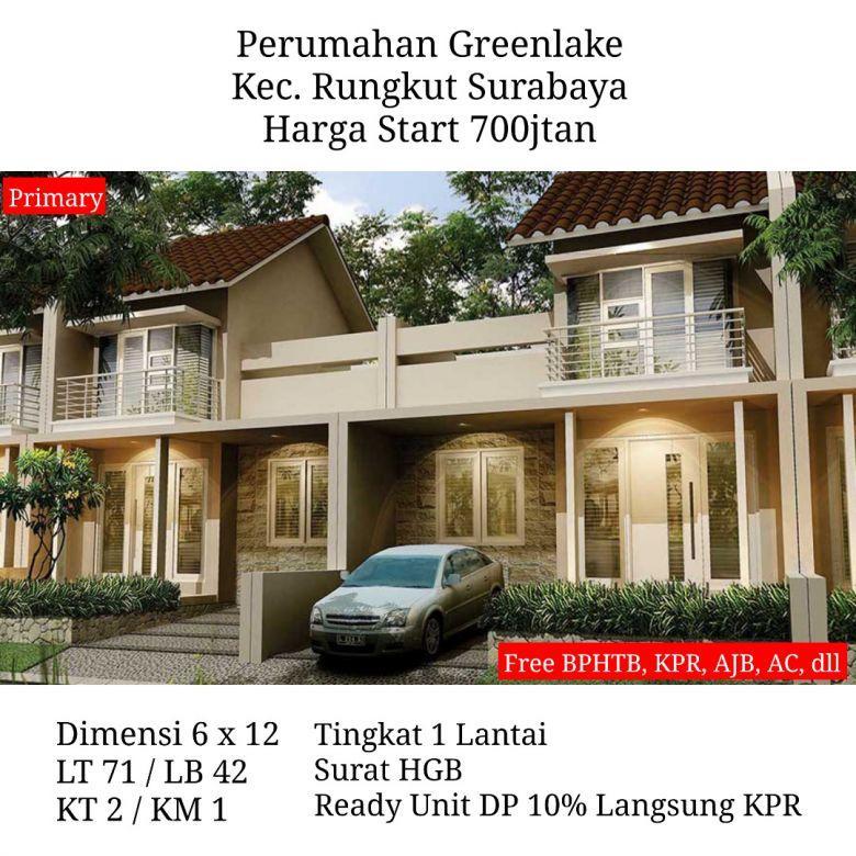 Jual Perumahan Greenlake Wonorejo Rungkut Surabaya