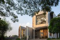 Rumah Modern Etnik 2 Lantai  Riviera Villa Kelapa Dua Depok