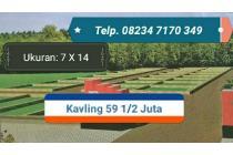 Jual tanah Rp.  607.143/meter