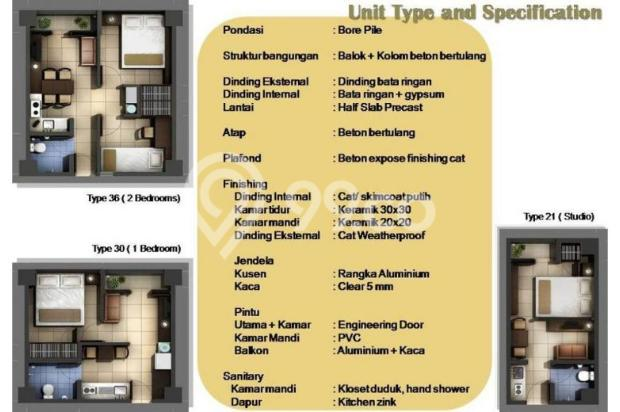 Miliki 2 kamar murah view city At Apartemen Sentra Timur Residence 11735595
