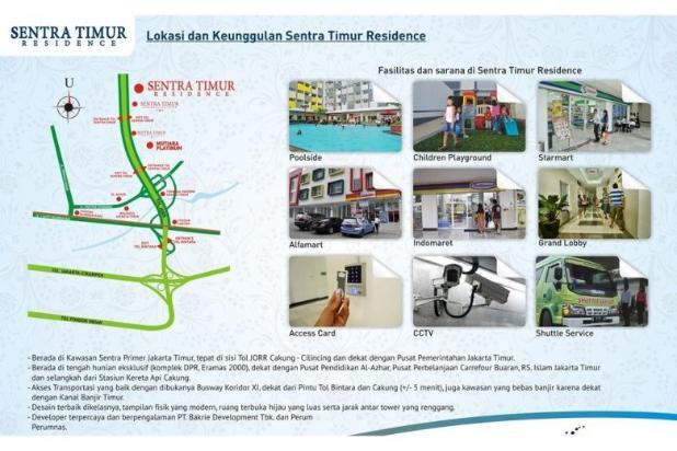 Miliki 2 kamar murah view city At Apartemen Sentra Timur Residence 11735600