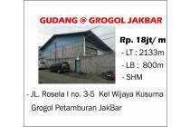 Gudang di Grogol, Jakarta Barat ukuran 2133mter Murah bangetttt