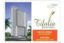 Dijual Apartemen Tifolia Tipe Studio, Akses Dekat LRT Kelapa Gading