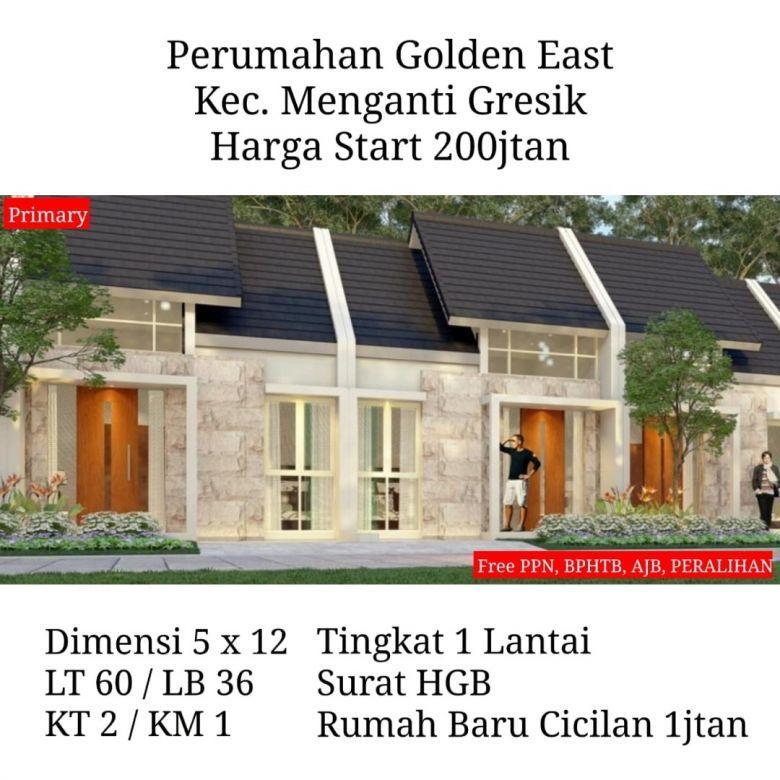 rumah golden east menganti gresik murah free biaya strategis