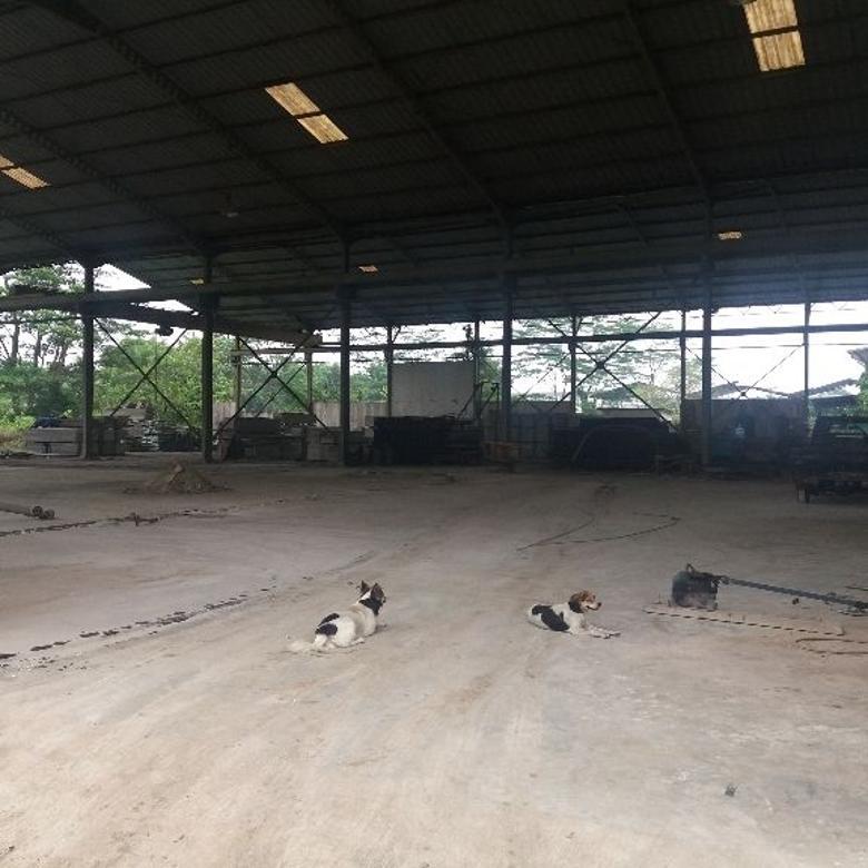 bekas pabrik luas 8000m daerah industri