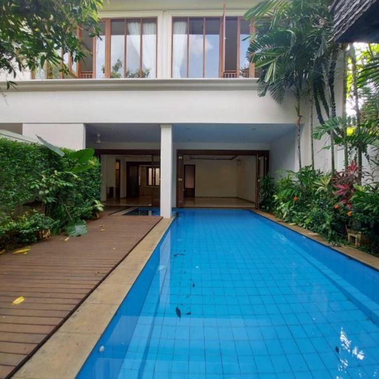 For Sale Tropical-Style House at Kemang Dalam