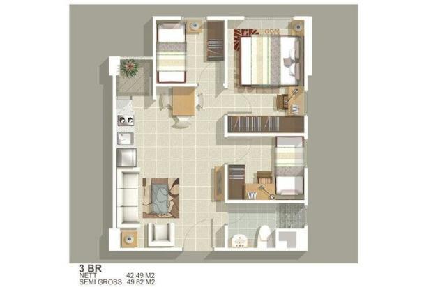 Disewakan Murah Apartement 3 kamar tower G 7285075