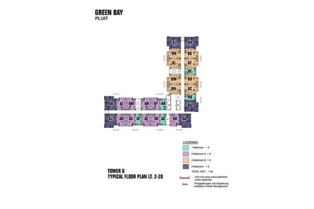 Disewakan Murah Apartement 3 kamar tower G 7285076