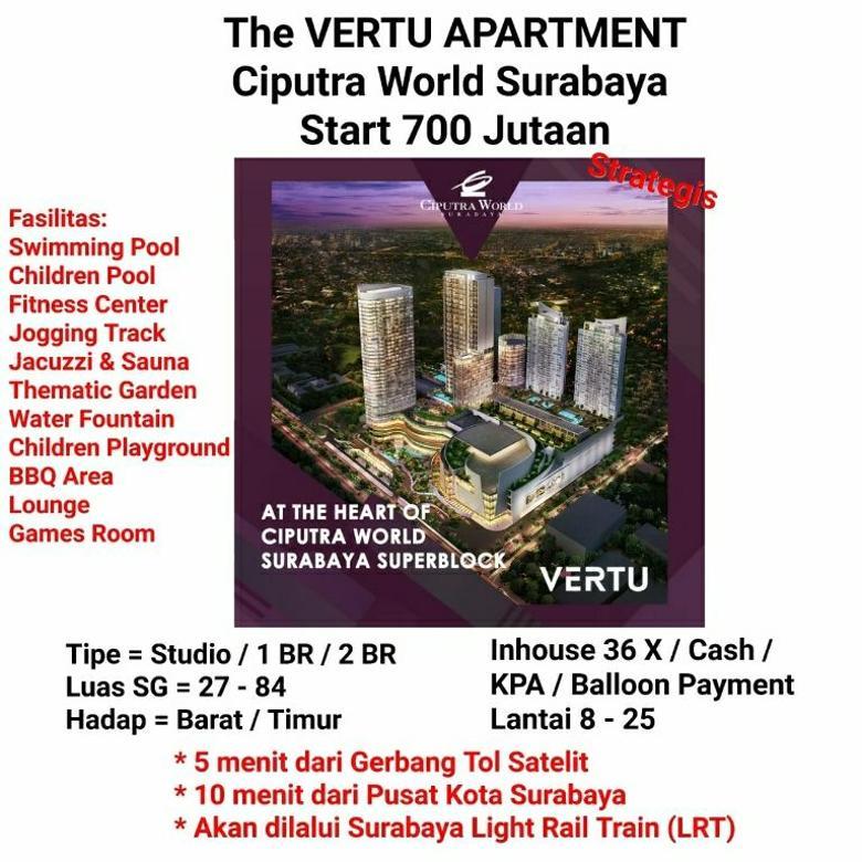 Apartemen the vertu ciputra world cw surabaya terhubung mall