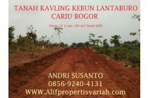 Tanah Dijual Murah Di Bogor Cariu Jonggol