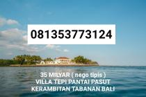 Villa Tepi Pantai Dijual di Pasut  Kerambitan Tabanan Bali