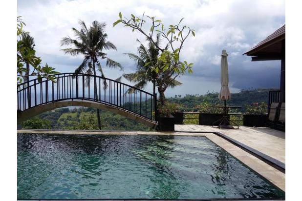 dijual cepat villa full view sunset dan laut batu layar - lombok
