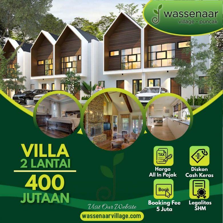 Villa 2 Lantai Bisa Cicil Tanpa Bank Di Puncak Harga 400Jt-an