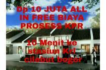 Hunian minimalis dp 10 juta all in free biaya prosess kpr