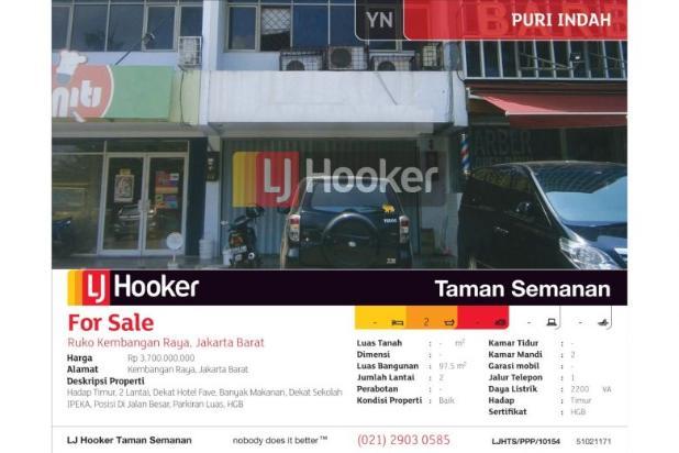 Ruko Kembangan Raya, Jakarta Barat, 2 Lt 6120364