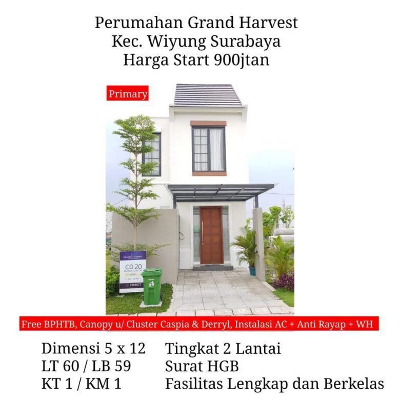 rumah grand harvest wiyung surabaya murah free biaya fasilitas
